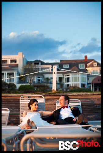 Funny beach bride and groom pictures from CT wedding at The Waters Edge